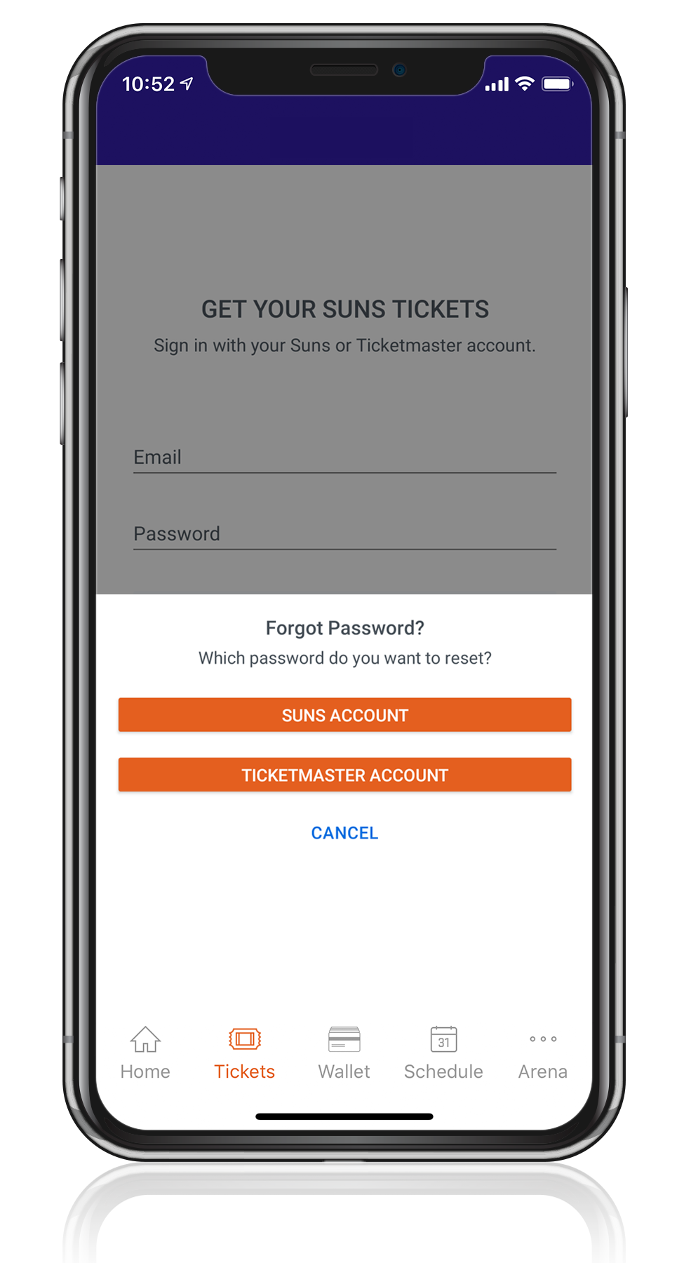Access Your Tickets - Step Three